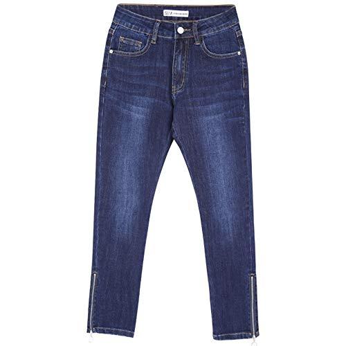 Jeans A Taglia Scuro Media Cerniere Xxl Skinny Lampo Vita Forte Sbiancato Donn Blu Autunno Le Matita Denim L Lunghezza Nuove Rlwfjxh Per Donne dwxSqT0d
