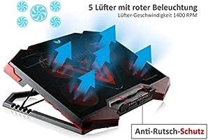 skgames – Ventilador de portátil Gamer fría Cooler Soporte Base ...