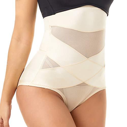 COHTB Women's Tummy Control Shapewear Panties Hi-Waist Body Shaper Underwear Butt Lifter Slimming Briefs