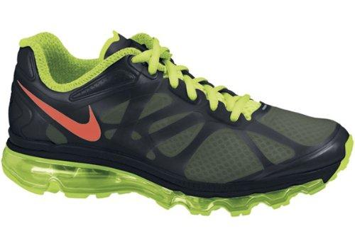 NIKE Air Max+ 2012 Womens Running Shoes 487679-063 Black 8.5 M US