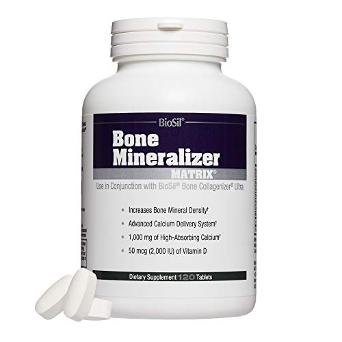 BioSil - Bone Mineralizer Matrix, Calcium and Vitamin D Supports Healthy Bone Mineral Density, 120 Tablets
