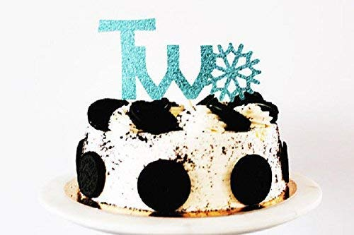 Amazing Two Large Blue Glitter Card Cake Topper 2Nd Birthday Custom Funny Birthday Cards Online Inifofree Goldxyz