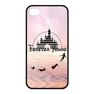 Forever Young Pattern Design Solid Rubber Customized Cover Case for iPhone 4 4s 4s-linda227 hjbrhga1544