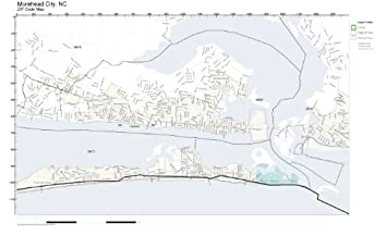 Amazon Com Zip Code Wall Map Of Morehead City Nc Zip Code Map Not