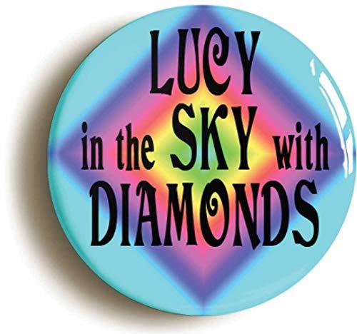 (Lucy Sky Diamonds Sixties Hippie Button Pin (Size is 1inch Diameter) LSD)