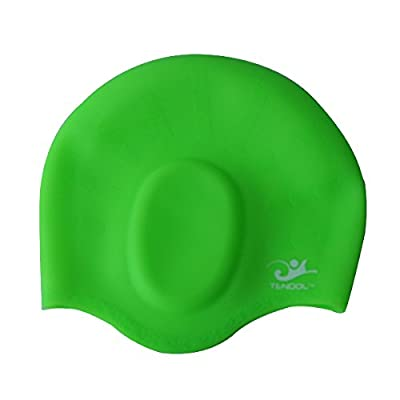 Tendol™ Silicone Swimming Caps with Ear Pockets, for Men ,Women & Children, High Quality.