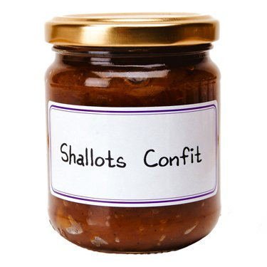Shallots Confit French Import 7.4 oz jar from l'Epicurien France, Six