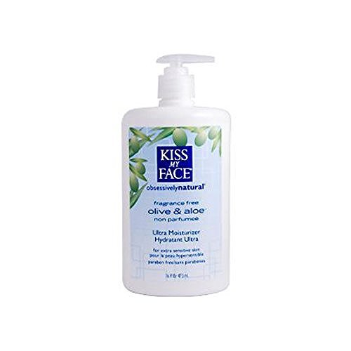 2 Packs of Kiss My Face Ultra Moisturizer Olive And Aloe Fragrance Free - 16 Fl Oz