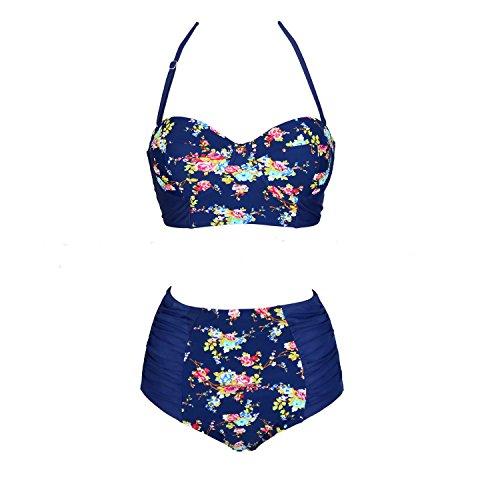 Fanssie Elegant Vintage Floral Swimsuit product image
