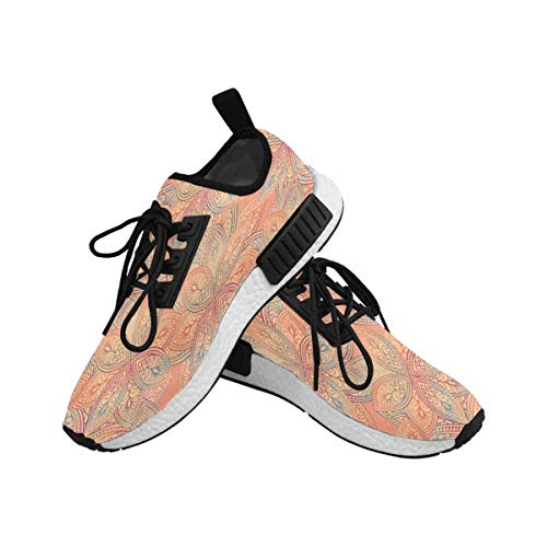 InterestPrint Women's Draco Running Comfort Sports Athletic Shoes Flowers 6 B(M) US by InterestPrint