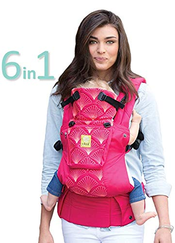 (lillebaby Complete Embossed 6-in-1 Baby Carrier, Coral)
