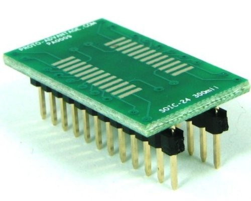 Proto-Advantage SOIC-24 to DIP-24 SMT Adapter (1.27 mm Pitch, 300 mil Body) ()