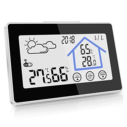 kungfuren Weather Station, Wireless Temperature Humidity with Outdoor Sensor, White...