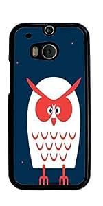 Owls Owl Cute Pattern Hard Case for HTC ONE M8 ( Sugar Skull )