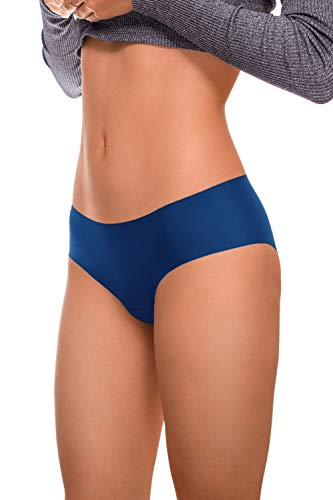ARGOCLASSIC Seamless Panties Underwear with Quick Dry Technology (M, Blue) ()