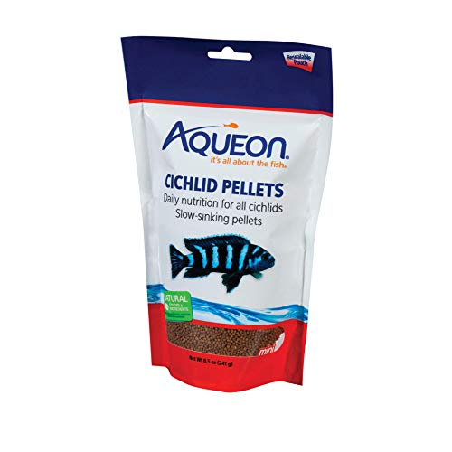 Fish Mini Pellets - Aqueon Cichlid Food Mini Pellets, 8-1/2-Ounce