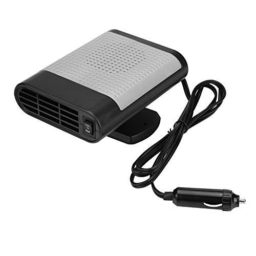 Calentador portátil para coche, ventilador de coche eléctrico de 12 V con calefacción caliente, ventilador para ventanas y...