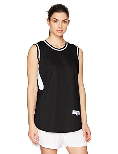 Intensity Womens Flatback Mesh Basketball Jersey, Black/White, Small