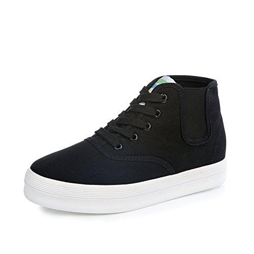 Verano zapatos de suela gruesos de bagatela/Zapatillas de deporte de color sólido Hi/Onda de zapatos estudiante elástico A