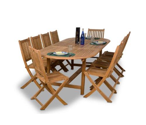 Amazonia Teak Bergen 11-Piece Teak Dining Oval Set ()