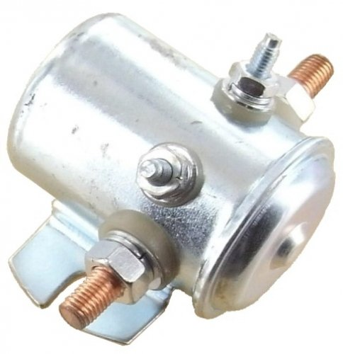 Solenoid 150 Amp Continuous Duty Battery Isolation Switch 300 Amp Surge 12 Volt 4-Terminal Silver Alloy Contacts Flat Bracket Insulated Base (Starter Bracket)