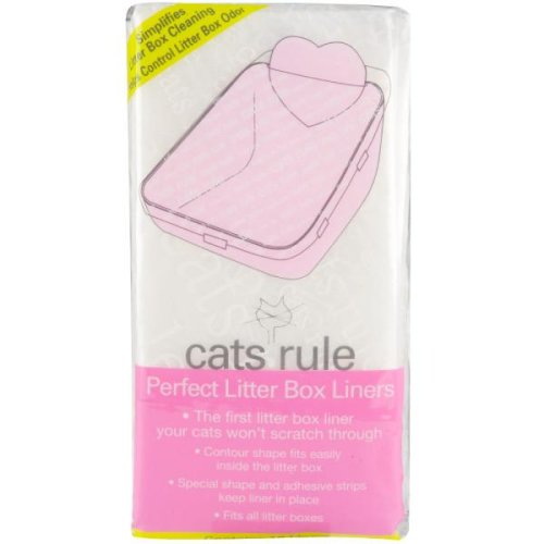 Cats Rule Perfect Litter Box Liners, 10 Pack