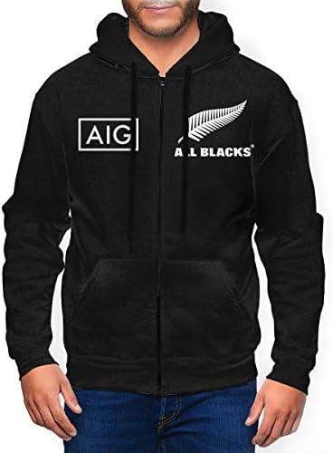 ラグビー マオリ オールブラックス ニュージーランド代表8プルオーバーパーカーパーカー長袖ポケット引き出しファスナーパーカーの上着