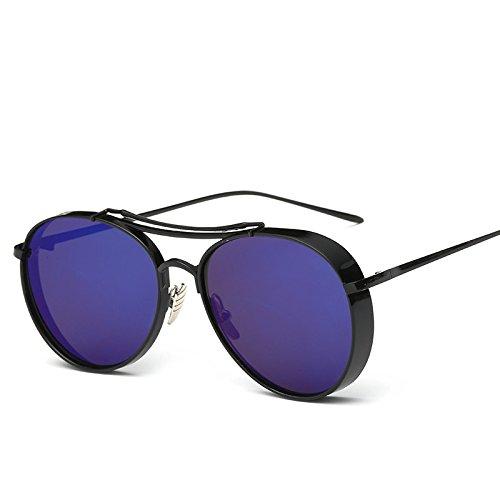 Color B de Irregular Edge RAQ Sol Hombre A Vanguardista Sol Metal Ringlass Gafas Moda Grueso Ojo de Señora Gafas aqU8xZwtq
