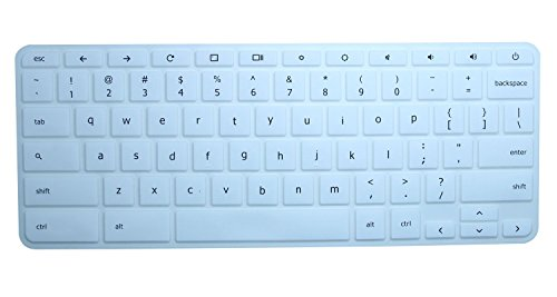 Acer Chromebook 15 Silicon Keyboard Protector Skin Cover for Acer Chromebook 15 CB3-531 CB3-532 CB5-571 C910 15.6' Chromebook US Layout, White