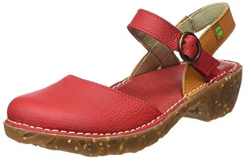 El Naturalista N178 Soft Grain Yggdrasil, Zapatos de Tacón con Punta Cerrada para Mujer Rojo (Grosella / Carrot)