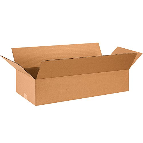Aviditi 2812675PK Flat Corrugated Boxes, 28'' L x 12'' W x 6'' H, Kraft (Pack of 75) by Aviditi
