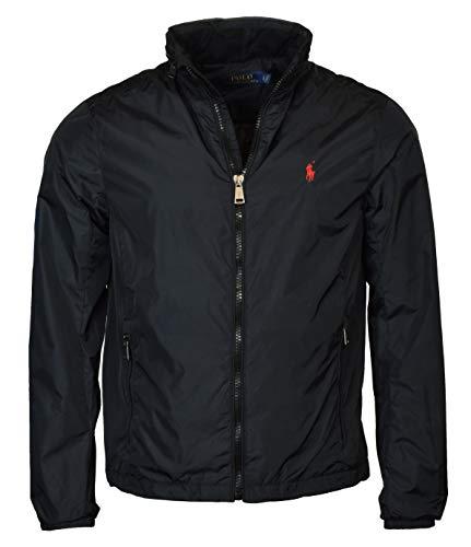 Polo Ralph Lauren Men's Nylon Hooded Windbreaker Jacket - XL - Black