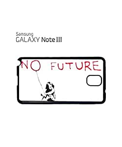 Banksy No Future Balloon Girl Mobile Cell Phone Case Samsung Note 3 White
