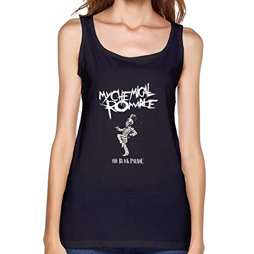 Nooleadel Tank Tops Women My Chemical Romance Tank Summer Graphic Tee Sleeveless Vest Tops Black -