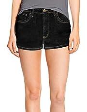 Hybrid & Company Womens Classic Comfy 5 Pockets Denim Shorts SH22881 Black 3