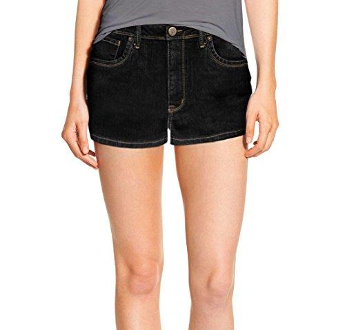 Womens Classic Comfy 5 Pockets Denim Shorts SH22881X Black 14