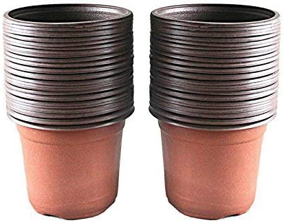 Amazon Com Kinglake 100 Pcs 4 Plastic Plants Nursery Pot Pots Seedlings Flower Plant Container Seed Starting Pots Garden Outdoor