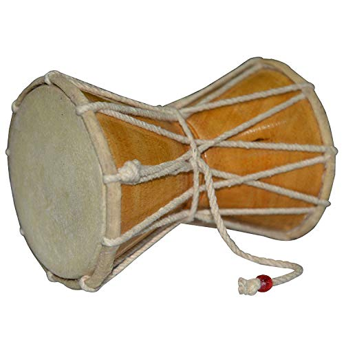 Lord Shiva Hand Made Damroo Damru Musical Instrument Indian Damaru Folk