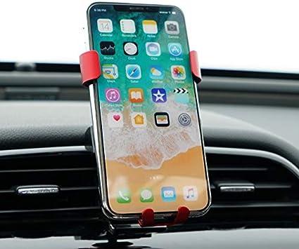 ITrims for Jaguar XE X760 2015-2019 Car Accessories Car Air Vent Mount Stand Car Dashboard Mount Cell Phone Holder Car Adjustable Smart Phone Holder Cradle Black