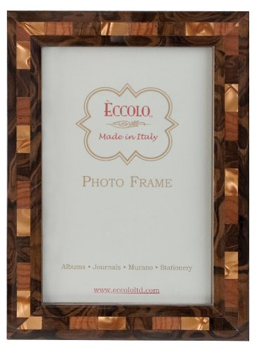 Eccolo Made in Italy Marquetry Wood Frame, Opalescent Tan, Holds an 8 x 10-Inch (Carved Italian)