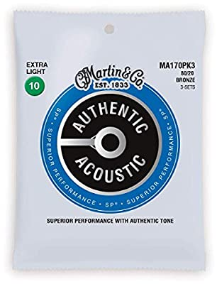 Martin Authentic Acoustic Guitar Strings - 3 Pack