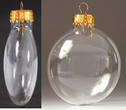Darice Inches Clear Glass Ornaments
