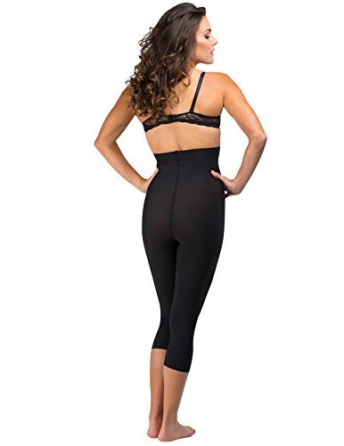 add34377a7 Delfin Spa Women s Body Slimming High Waist Shapewear Capris ...
