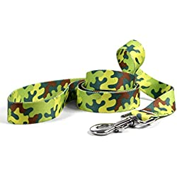 "Yellow Dog Design Neon Camo Dog Leash, Small/Medium-3/4 Wide and 5' (60"") Long"