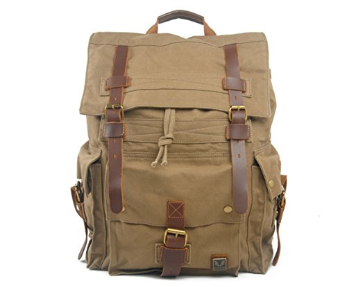 For Layer Amy Rucksacks Unisex Vintage College Backpacks Backpack Bag Green 3 Crazy Canvas With Horse Shoulder Hiking Bags Neutral First Travel Casual HqzzwZI
