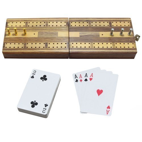Halloween 2 Track Folding Cribbage Board Wooden Travel Ga...