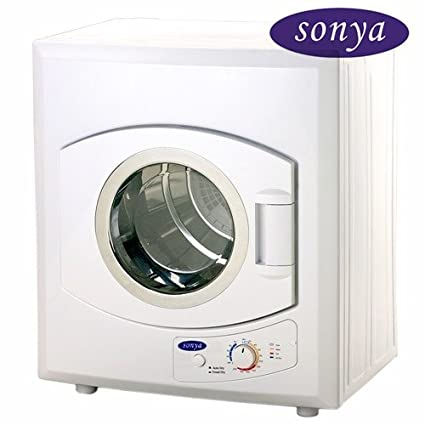 Sonya Portable Compact Small Laundry Dryer Apartment Size 110vstainless  Steel Drum Transparent Lid 8.8lbs Capacity