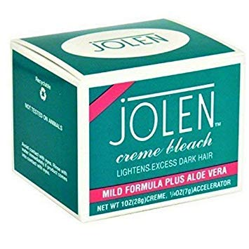 Jolen Creme Bleach Formula Plus Aloe Vera,1.2 oz (Best Facial Hair Bleach For Sensitive Skin)