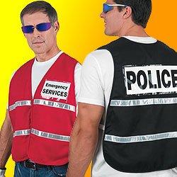 Incident Vest Black White Reflective