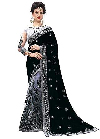 SARVADARSHI FASHION Women's Silk Half & Half Saree With Unstitched Blouse